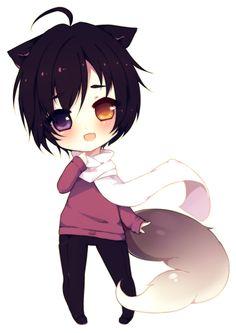 chibi deviantart anime kawaii fox ichi yamio manga boy wolf male furrtrax guardado desde uploaded