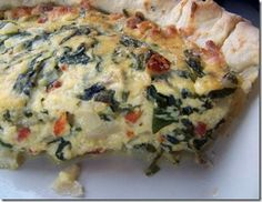 spinach ricotta pie -