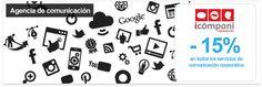 Deja la comunicación corporativa de tu empresa en las mejores manos con Icómpani - 15% de descuento en todos los servicios