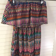 Multicolored Ruffle Maxi Dress •PERFECT CONDITION•• multicolored maxi dress! Perfect for summer! •Make me an offer! Anything is negotiable!• listed as Zara for exposure! Zara Dresses Maxi