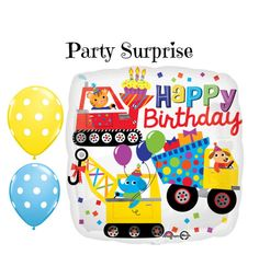 Construction Birthday Party Balloons Kids by PartySurprise on Etsy