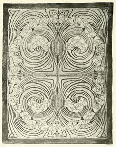 Rug design by Patriz Huber, produced in 1899 Victorian Life, Art Nouveau Design, Art Deco, Floor Cloth, Rug Hooking, Locker Hooking, Arts And Crafts Movement, Carpet Design, Traditional Rugs