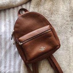 0c49f2da5ce2b6 NWT Coach Brown Pebbled Leather X Small Mini Backpack Book bag Purse ...