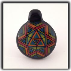 Heady Hunter Borosilicate Glass Art Gallery | Tony Fusco Geometric Disc Flip Pendant (B)