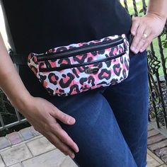 """Dorothy RW on Instagram: """"Who says a fanny pack can't be glamorous?  I beg to differ!  New #sykhipbag pattern being released soon by @sewyourkit - easy-to-follow…"""" Premier Prints, Printed Bags, Fanny Pack, Packing, Glamour, Animal, Easy, Pattern, Shopping"""