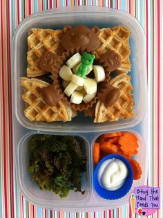 Biting The Hand That Feeds You: Bear-y Waffle Bento