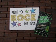 Cute way to reward kids either for or after TCAP School Treats, School Gifts, Classroom Treats, Classroom Activities, Too Cool For School, School Fun, School Stuff, Star Test, Student Led Conferences