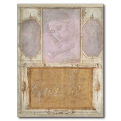 #Libro de' #Disegni by #Botticelli, #Lippi, #Vasari Postcards #art #drawing #renaissance #postcard #silverpoint #ink #card #cards
