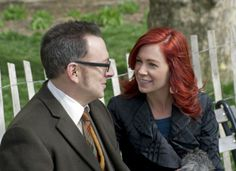 "Behind The Scenes: Michael and Carrie Michael Emerson (Finch) takes a break on set with his real life wife Carrie Preston. Preston was revealed in ""No Good Deed"" to be Finch's former lover, Grace.  Season 1  Episode 22"