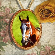 Chestnut Horse Thoroughbred Horse Jewelry by NobilityCatsandPets, $34.90