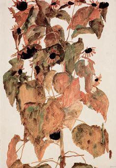 sunflowers, 1911 - egon schiele