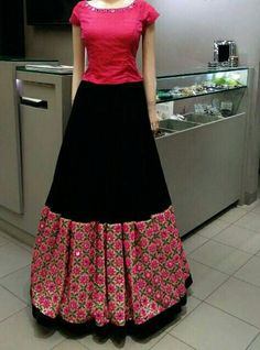 skirt & top | mirror work