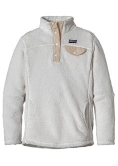 Patagonia Girls Re-Tool Snap-T Pullover (Raw Linen X-Dye w