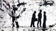 großes Bild in s/w malen lassen - Olsenbande von Kunst der Malerei - Bilderverkauf auf DaWanda.com