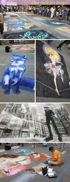 Denver chalk art festival May 31st-June 1st Larimer Square