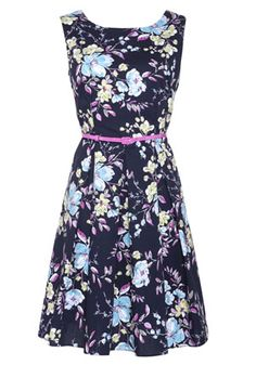 F&F Floral Print Belted Prom Dress