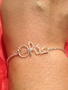 Script Ohio braceletgold silver or rose gold tone basic by Tutes