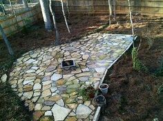 fire pit and landscaping, landscape, lawn care, outdoor living, After