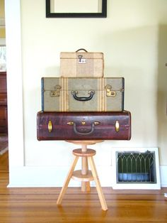 suitcase vintage dark brown luggage christmas by thespectaclednewt