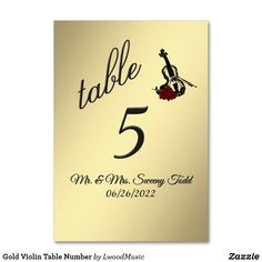 Gold Violin Table Nu