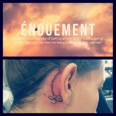 Tattoo behind ear - énouement :)