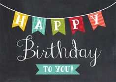 A Banner Birthday Card - Birthday from Brookhollow