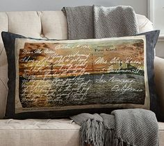 San Francisco Postcard Print Lumbar Pillow Cover. Pillows U0026 ThrowsDecor ...