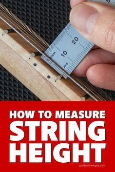 Guitar Action - What's a Good String Height? How to measure your guitar's string height, or action, as well as a list of average measurements for low, medium, and high guitar action. Music Theory Guitar, Guitar Chords For Songs, Guitar Diy, Guitar Chord Chart, Guitar Tabs, Music Guitar, Guitar Lessons, Playing Guitar, Acoustic Guitar Amp