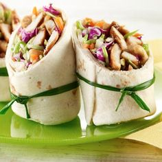 Teriyaki Chicken Wraps Recipe from Land O'Lakes
