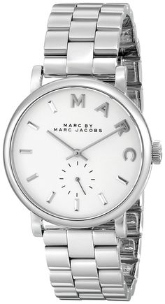 Amazon.com: Marc by Marc Jacobs Women's MBM3242 Baker Silver-Tone Stainless Steel Watch with Link Bracelet: Marc by Marc Jacobs $195