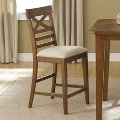 Hearthstone X-Back Counter Height Chair by Liberty Furniture