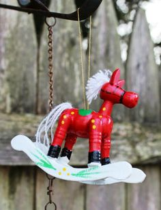 2013 red rocking horse christmas ornaments handmade christmas ornaments 2013 christmas tree decorations