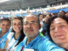 Lic. Oscar Maeda Sub Jefe de Misión, Gabriela Matus Joven Embajadora, Ingeniero Julio Caceres Jefe de Misión y Señora Rosario Avendaño de Eventos del Ciclo Olímpico Guatemala.