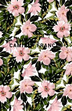 About Camilla - Camilla Frances Prints Textile Pattern Design, Textile Patterns, Textile Prints, Print Patterns, Floral Prints, Art Prints, Textiles, Tropical Background, Tropical Pattern