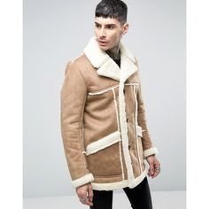 Pre-Owned Mens Mario Valentino Tan Shearling Suede Leather Fur ...