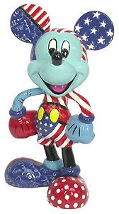 Mickey Mouse - Mickey Patriotic Figurine - Romero Britto - World-Wide-Art.com - $27.50