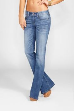 Low-Rise Mini Bell Jeans in Checkmate Wash | GUESS.com