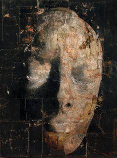 2007, tecnica mista su carta applicata su tela, 200 x 150 cm nicola samori paintings sculptures  plastic arts, visual arts, fine arts, art