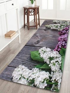 Coral Velvet Flowers Indoor Outdoor Area Rug - COLORMIX W16INCH*L47INCH