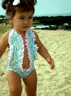 OMG ok so normally I don't condone these types of swimsuits on infants but this is just too adorable!