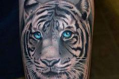 White Tiger Tattoo Designs | 25 Majestic White Tiger Tattoo Ideas