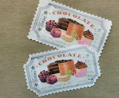 Cupcake Chocolate Stoffbild Applikation Bügelbild
