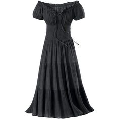 Gauze Peasant Dress - New Age, Spiritual Gifts, Yoga, Wicca, Gothic,... (€85) ❤ liked on Polyvore featuring dresses, vestidos, gowns, black, goth dress, gothic dress, gauze dresses, yoga dress and gothic lolita dress