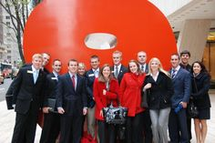 """A group of students from the Cornell Leadership Program in the school of business at Mizzou during their """"Tigers on Wall Street"""" trip to New York. Leadership Programs, Site Visit, Business Education, New York Travel, Study Abroad, Wall Street, Travel Around, Tigers, Trips"""