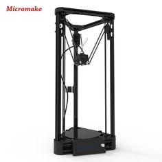 Micromake impresora 3d versión de la polea guía lineal diy kit kossel delta de nivelación automática de gran tamaño de impresión impresora de metal 3d