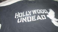 HOLLYWOOD UNDEAD Concert 2009 Atreyu Tour Rock Band Rare Small T SHIRT