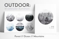 OUTDOOR: watercolor collection by Lana Elanor on @creativemarket