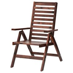 ÄPPLARÖ Reclining chair, outdoor Foldable brown stained  - IKEA
