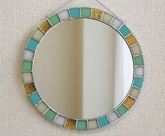 Stained Glass Mirror, Fused Glass, Installation Art, Glass Art, Soldering, Frame, Mirrors, Prints, Artwork