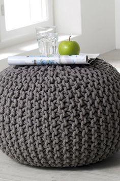 yellow crochet pouf yellow lemon crochet floor cushions. Black Bedroom Furniture Sets. Home Design Ideas
